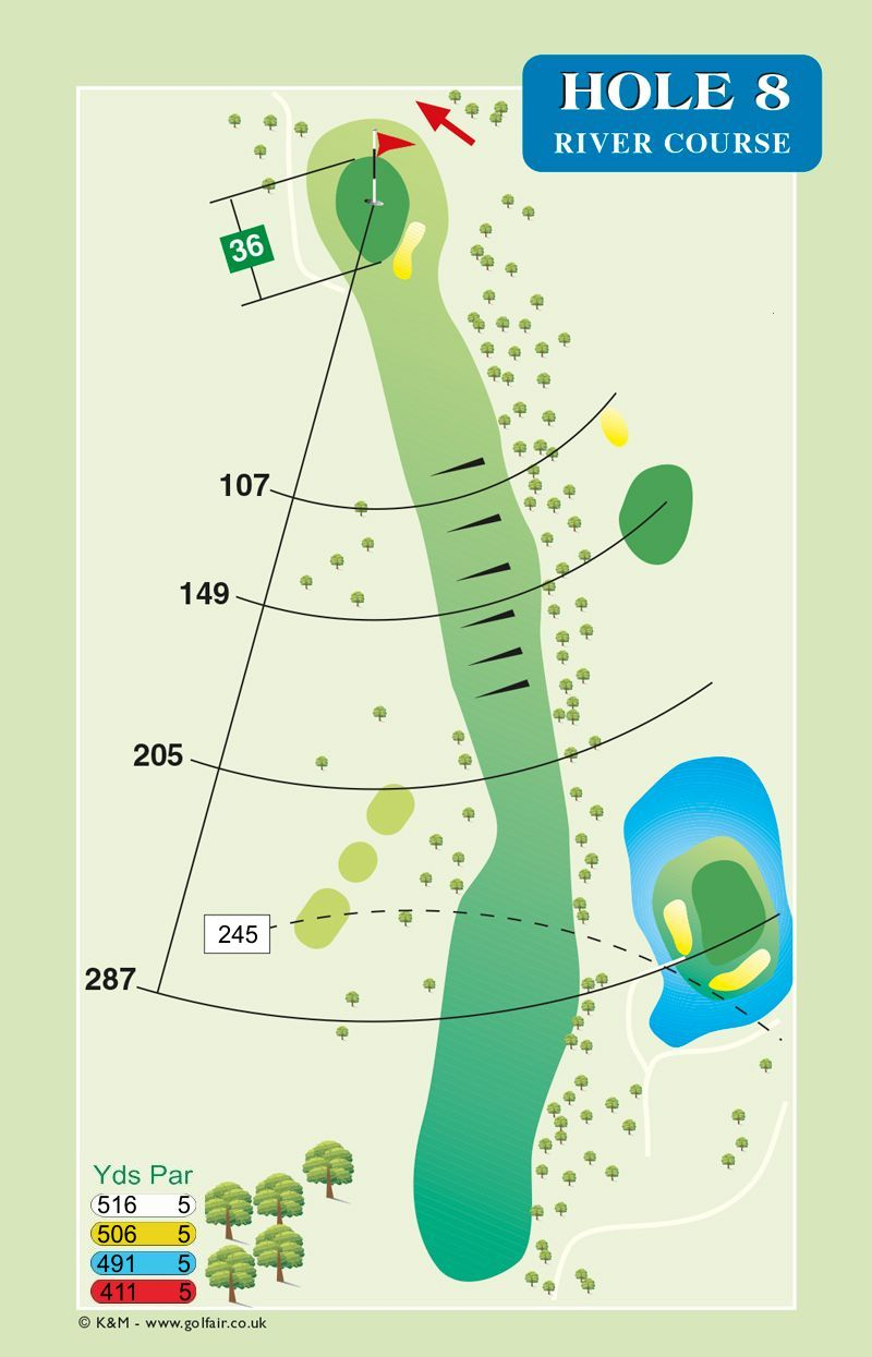 Hole 8 River Course