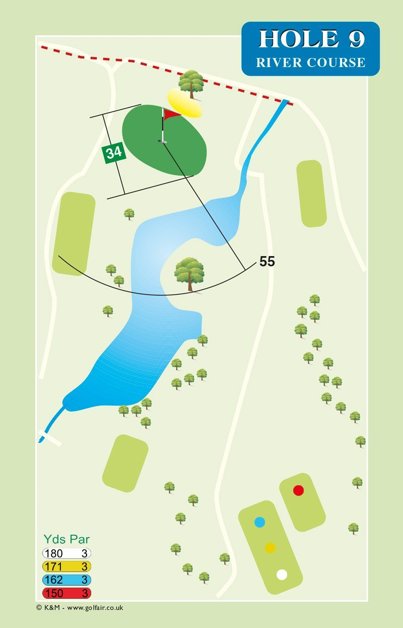 Hole 9 River Course